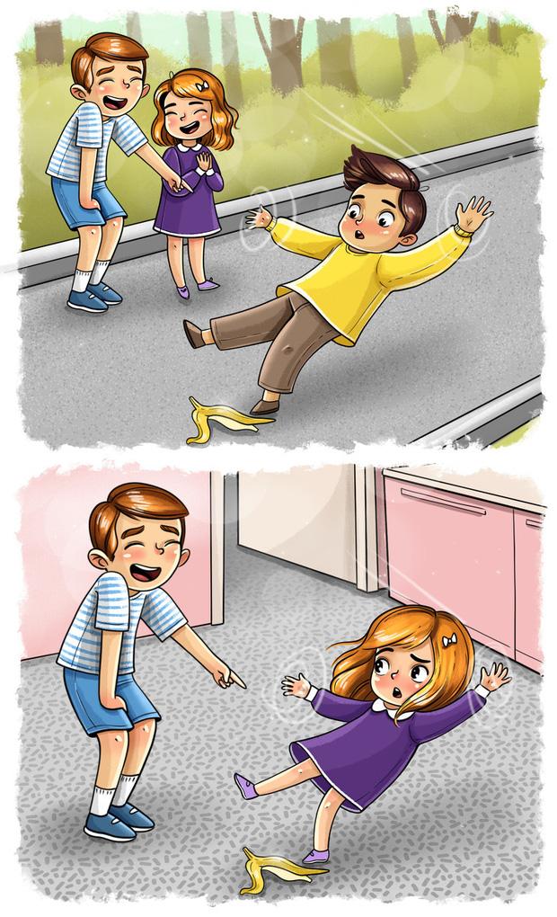 Bộ tranh: Dù có lúc đáng ghét đến mức chỉ muốn sút ra khỏi nhà nhưng có anh chị em thực sự là hạnh phúc to đùng đấy!