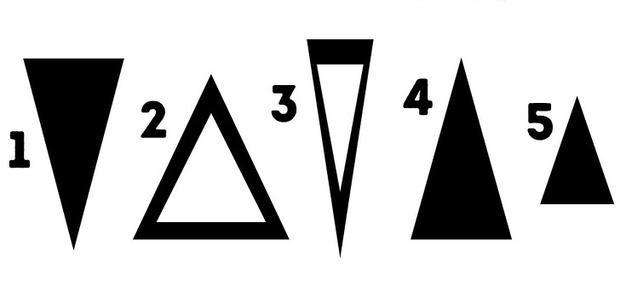 Chọn lấy một hình tam giác mình thích trong ảnh này, nó sẽ tiết lộ sự thật về tính cách đang ẩn chứa bên trong bạn