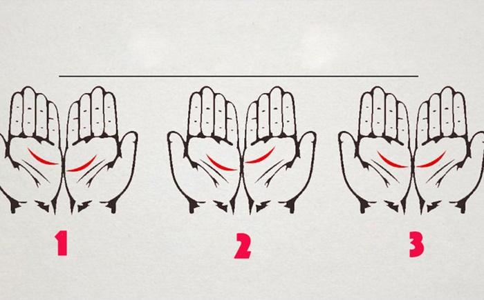 Xòe hai bàn tay và đặt cạnh nhau, nếu thấy đường đặc biệt này xuất hiện, cuộc đời bạn được dự báo những bất ngờ