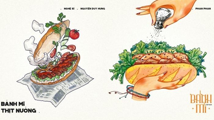 Bộ tranh: Bánh mì Việt Nam, nhìn thôi đã thấy xốn xang lòng