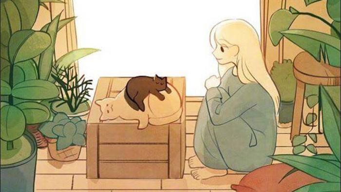 Bộ tranh: Con gái thường làm gì lúc ở nhà một mình?