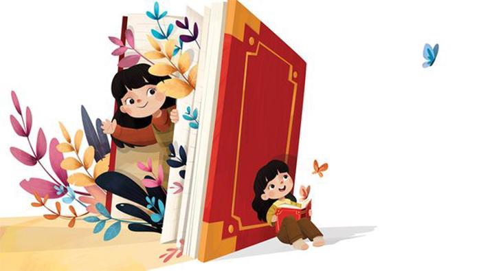 Con và sách