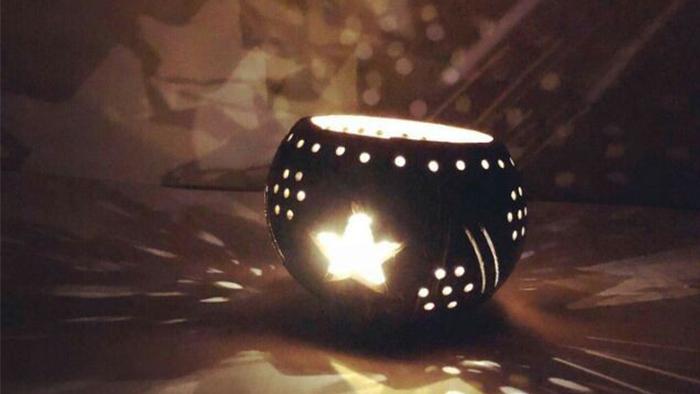 Lồng đèn gáo dừa