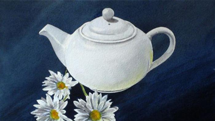Tách trà cúc và nội